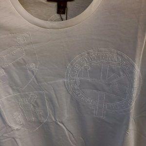 Louis Vuitton Men Embroidery White T-Shirt